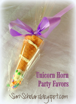 Unicorn Horn Party Favors Edible Crafts