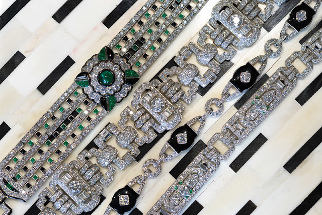statement estate antique art deco bracelets jogani beverly hills
