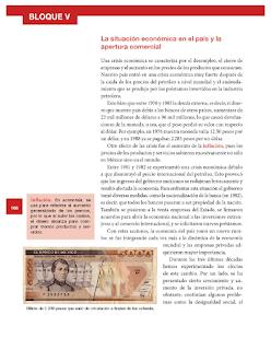 La situación en el país y la apertura comercial - Historia Bloque 5to 2014-2015