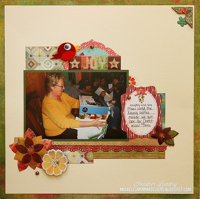 Christmas Present_Happy Mom_Scrapbook Page