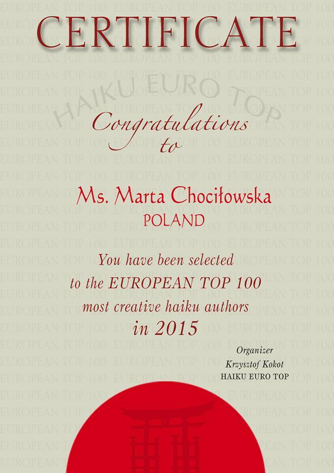 Haiku Eurotop 2015