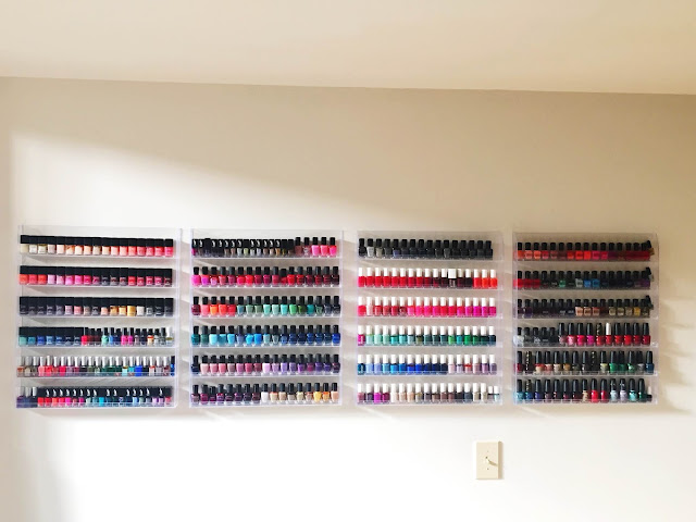 nail polish storage, nail polish stash, The Beauty of Life nail polish storage, Chanel, RGB Cosmetics, Rescue Beauty Lounge, butter LONDON, Zoya, Essie, Deborah Lippmann, OPI, China Glaze, nail polish, nail lacquer, nail varnish, #ManiMonday, manicure, nail polish racks