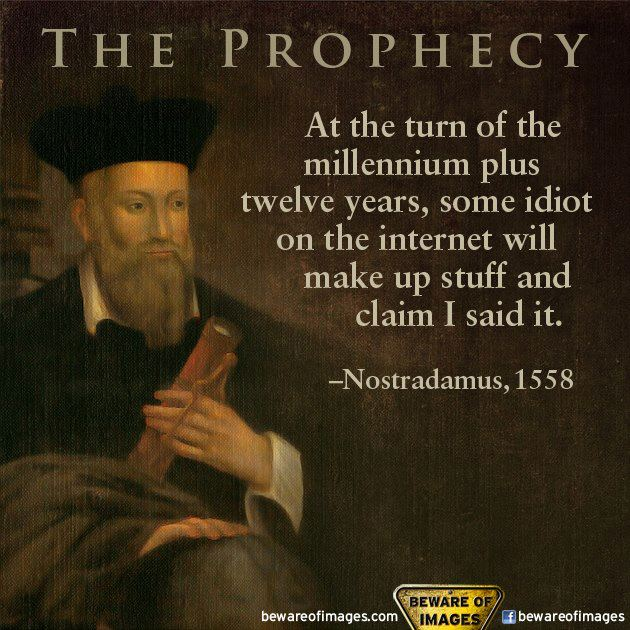 Nostradamus 2012 Prophecies Quote