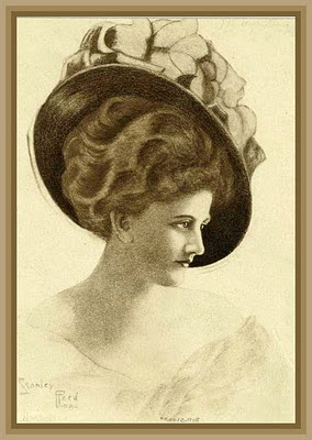 victorian lady with hat