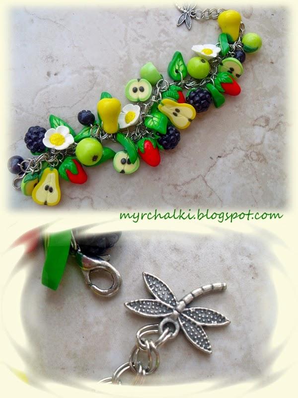 ягоды и фрукты из пластики