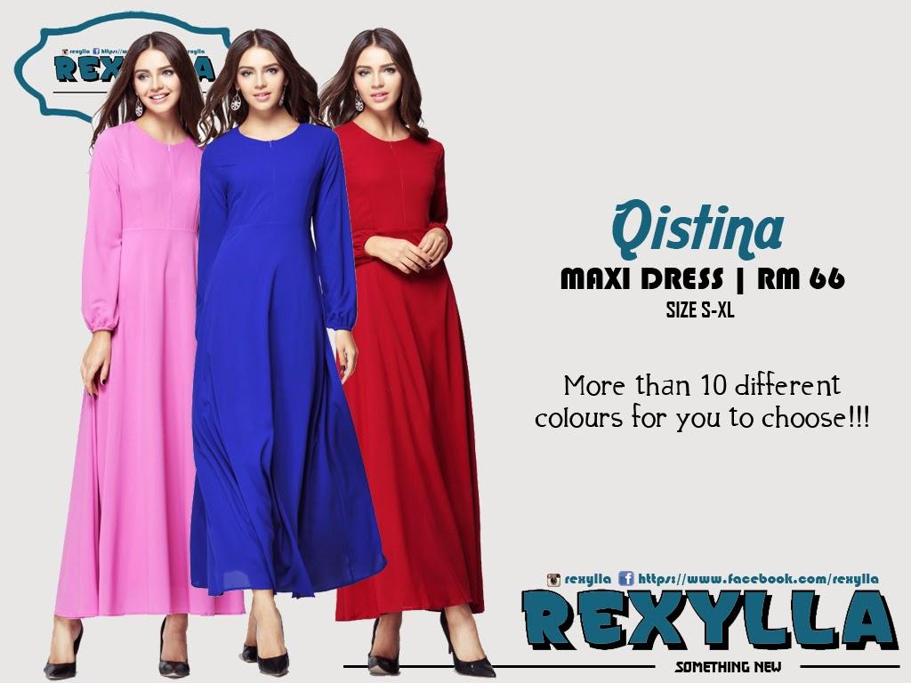 rexylla, maxi dress, qistina