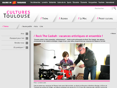 On parle des colonies musicales Rock The Casbah sur Toulouse Cultures