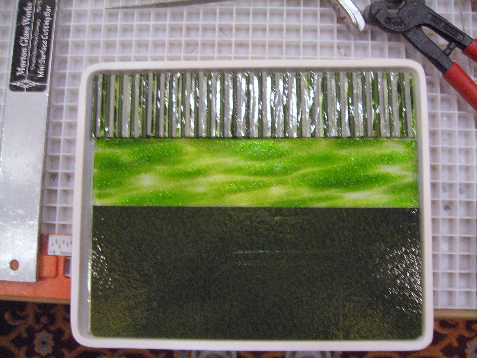 Roll-up panel prior to fusing