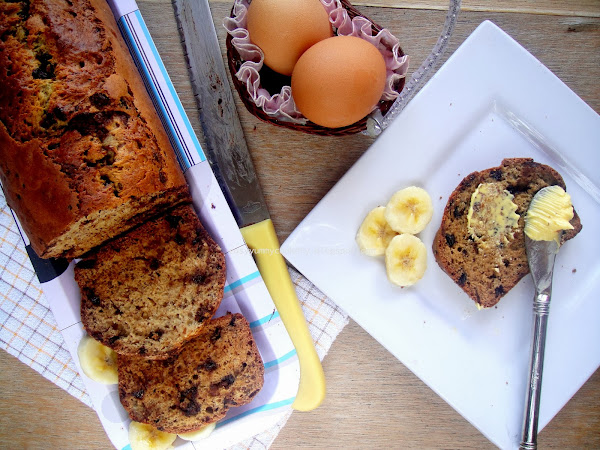 Dark Chocolate Chips Banana Bread