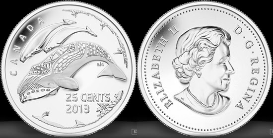 2013 Canada Centennial of Arctic Expedition 4-Quarter Both Regular And Frost