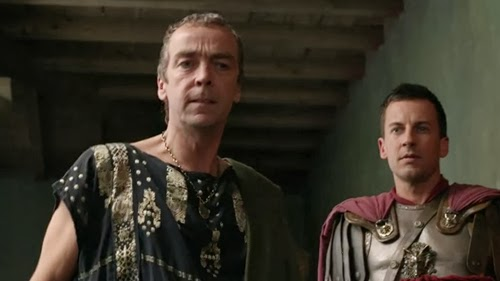 Quintus Batiatus and Gaius Claudius Glaber from the TV series Spartacus