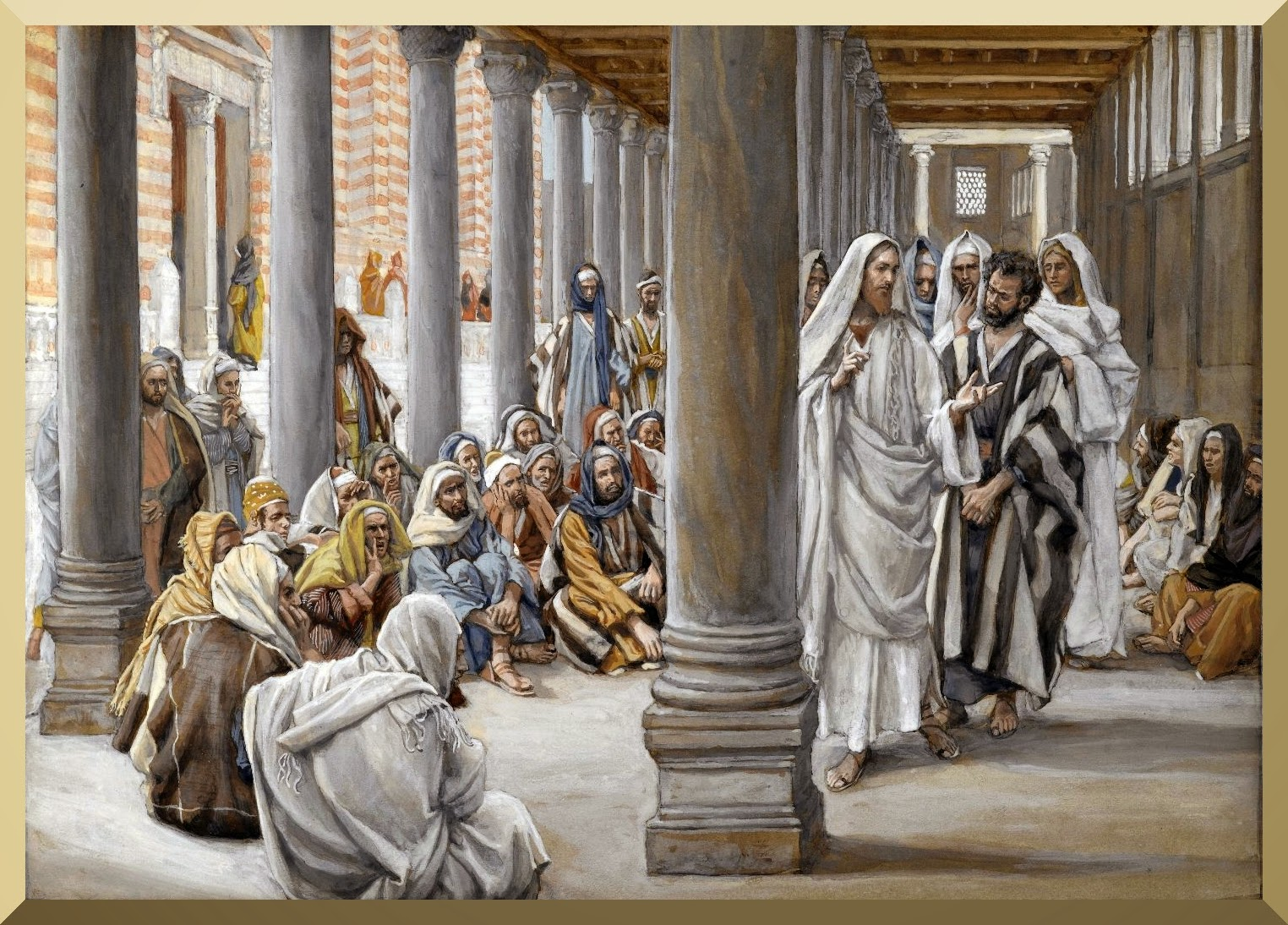 """Jesus Walks in the Portico of Solomon"" -- by James Tissot.jpg"