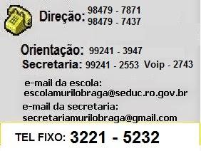 TELEFONES DA ESCOLA