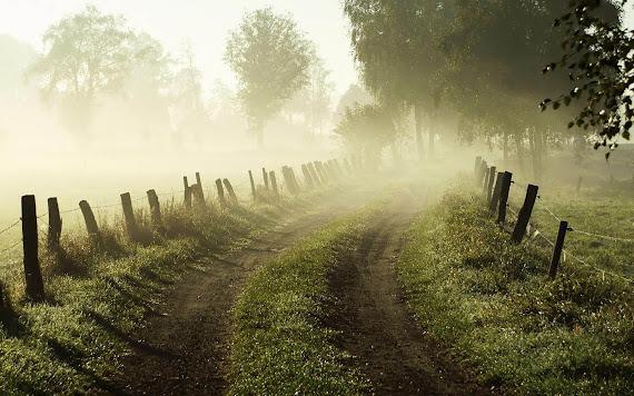 foto kabut, gambar kabut pagi, foto subuh, gambar subuh hari, pemandangan pagi hari