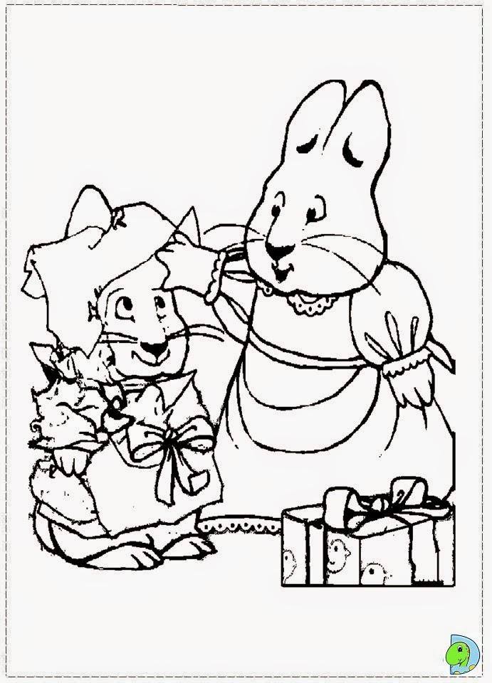 Dinokids desenhos para colorir desenhos de max e ruby for Max and ruby coloring pages to print