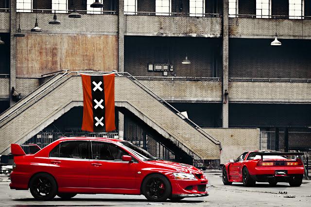 Mitsubishi Lancer Evolution & Honda NSX, japoński sportowy sedan, coupe, samochód