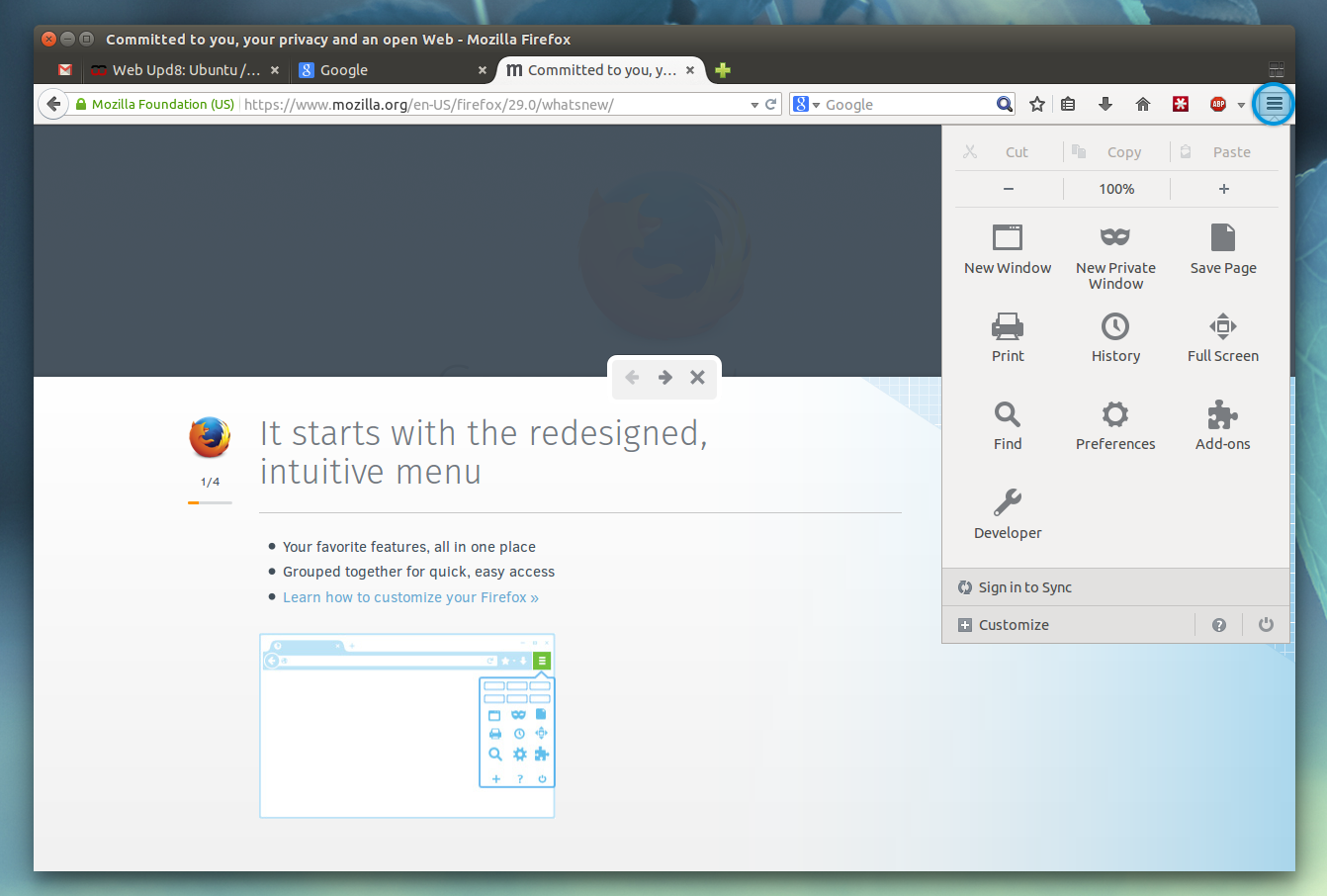 firefox open menu