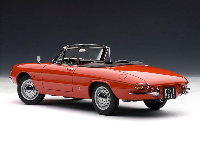 Alfa Romeo 1600 Duetto Spider Red 1:18 Scale Diecast Model Car ~ Model ... Speedracer