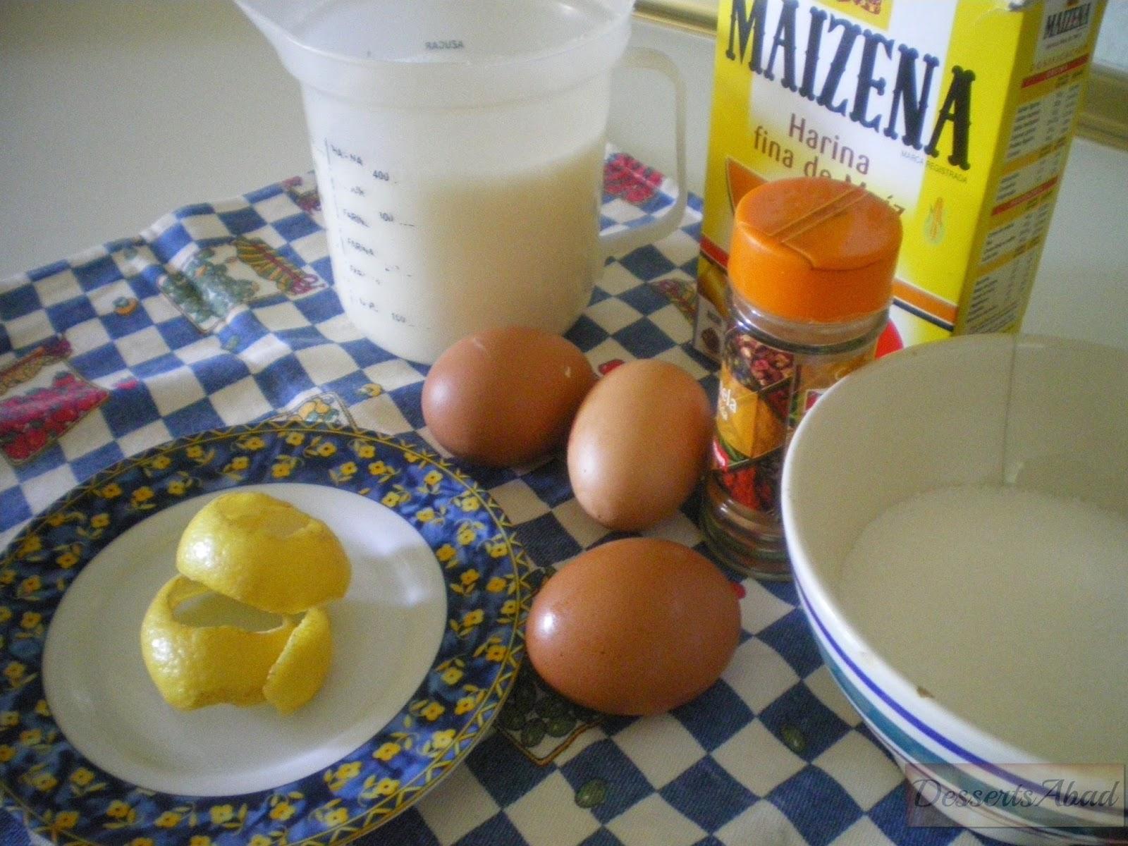 Ingredientes natillas
