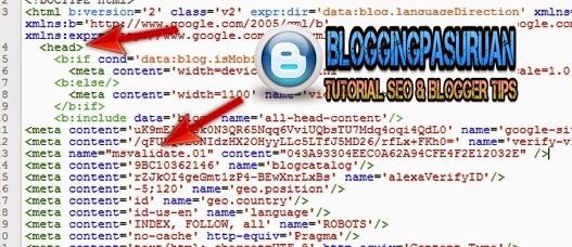 Cara Daftar dan Verifikasi Blog di Bing Webmaster Terbaru