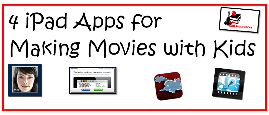 Top 10 Blog Posts from Raki's Rad Resources of 2014 -iPad apps for making movies with kids