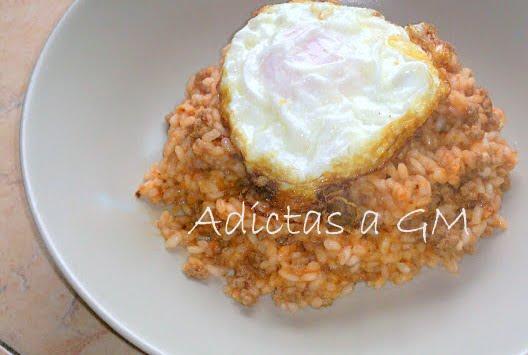 Arroz a la cubana for Arroz blanco cocina al natural