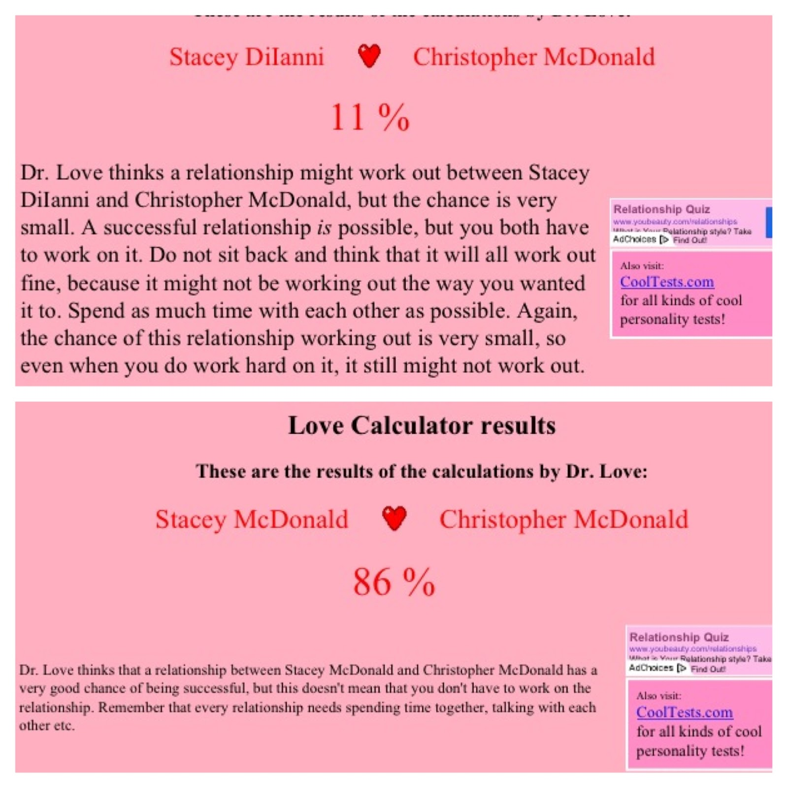 doctor love calculator
