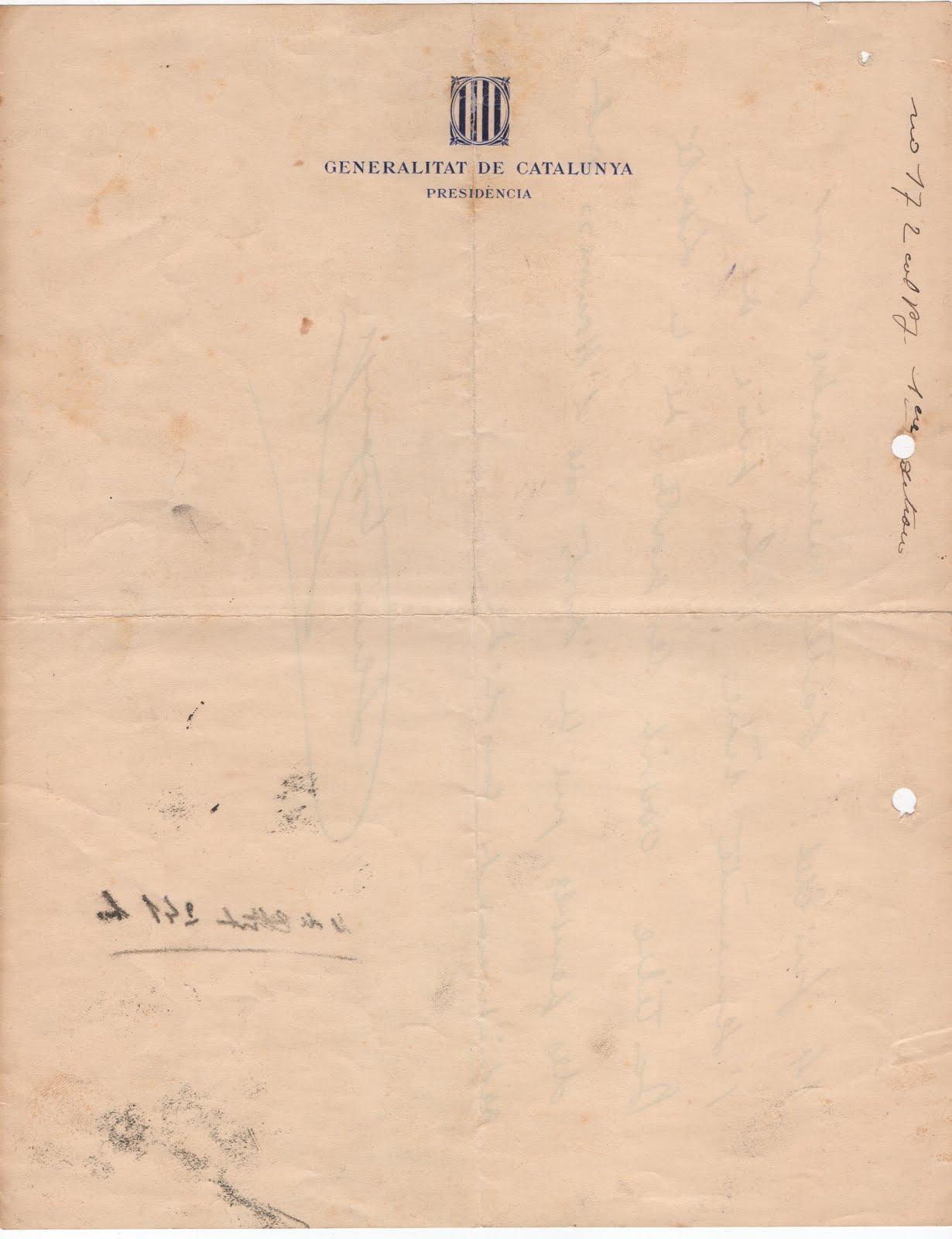 Document President Lluís Companys