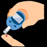 血糖値の測定のイラスト