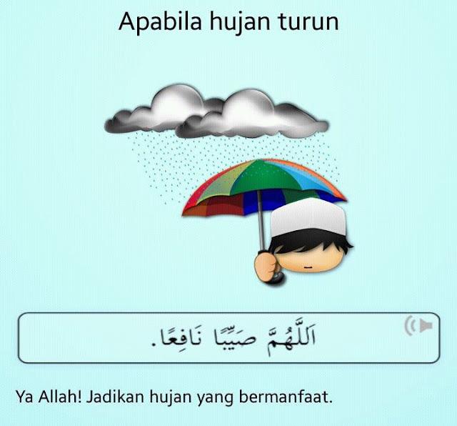 doa apabila hujan turun