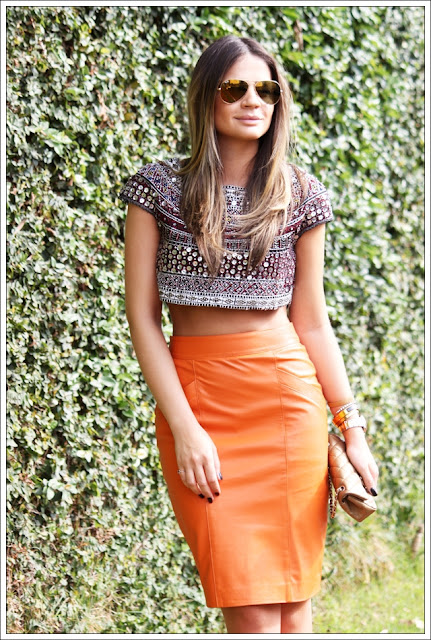 top cropped saia cintura alta thassia naves