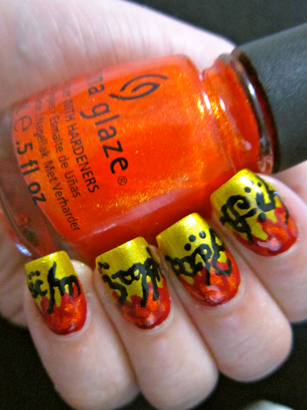 Epic Nail Time: Lord Of The Rings Nail Art - One manicure to rule ...