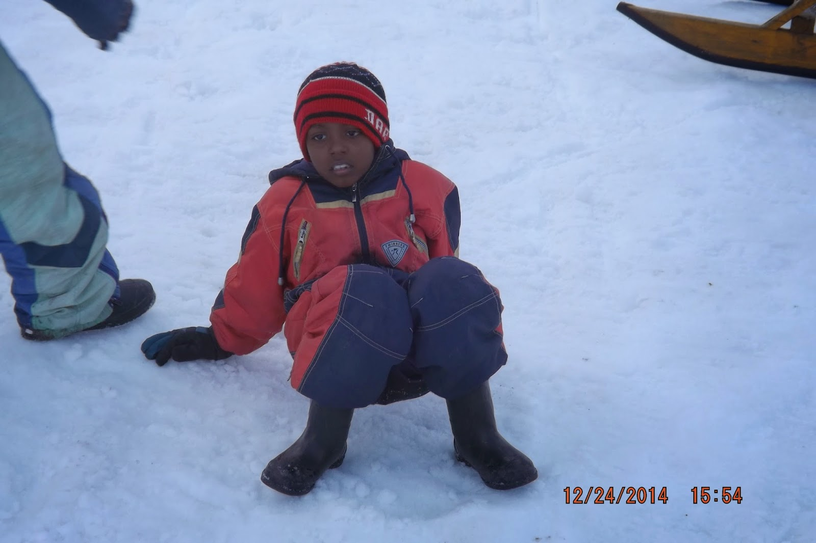 Chandradittya Banik enjoying the snow