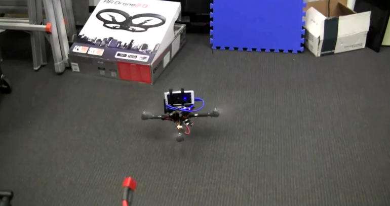 quadcopter with Project Tango hovers
