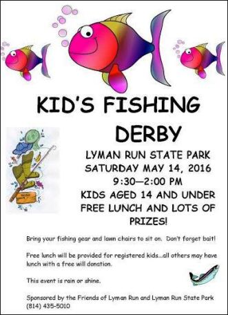 5-14 Kids Fishing Derby, Lyman Run