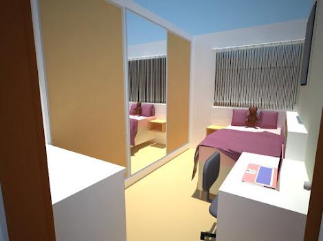 projeto dormitório renderizado