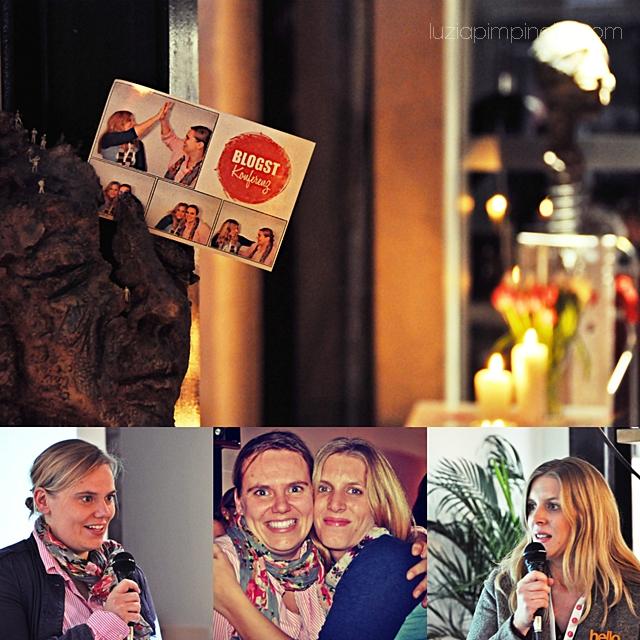 [ luzia pimpinella BLOG ] eine fotocollage mit bildern von der BLOGST blogger konferenz: die organisatorinnen clara von tastesheriff und ricarda von 23qm stil