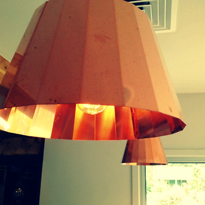 The Holland House: Copper Pendant Lampshades