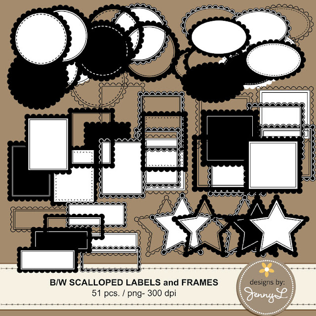 https://www.teacherspayteachers.com/Product/Scalloped-Black-White-Labels-and-Frames-Clipart-2016025