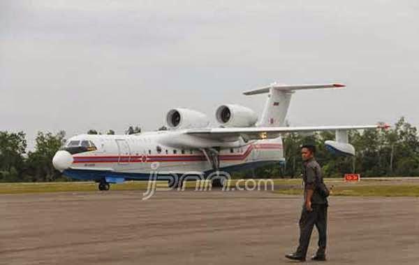 Pesawat Amfibi Rusia pun Tak Berani Sentuh Air