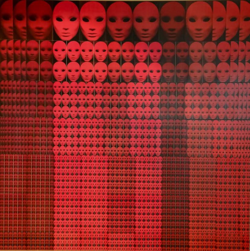 Solange Alves, Fractal 4 - A Menor Parte é Idêntica ao Todo, Colagem sobre madeira, 140x140 cm.