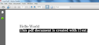 create pdf file in Java