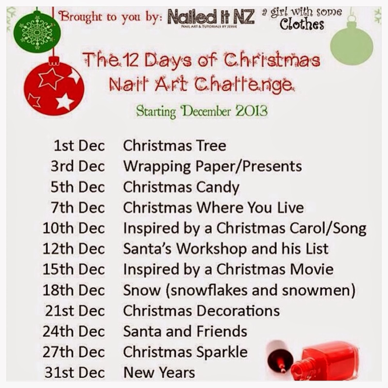 Game nail color workshop - The 12 Days Of Christmas Nail Art Challenge Day Nine Christmas Decorations