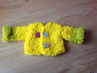 crochet doll coat, doll clothes