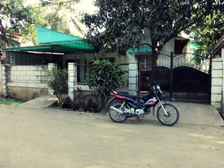 house and motorcycle