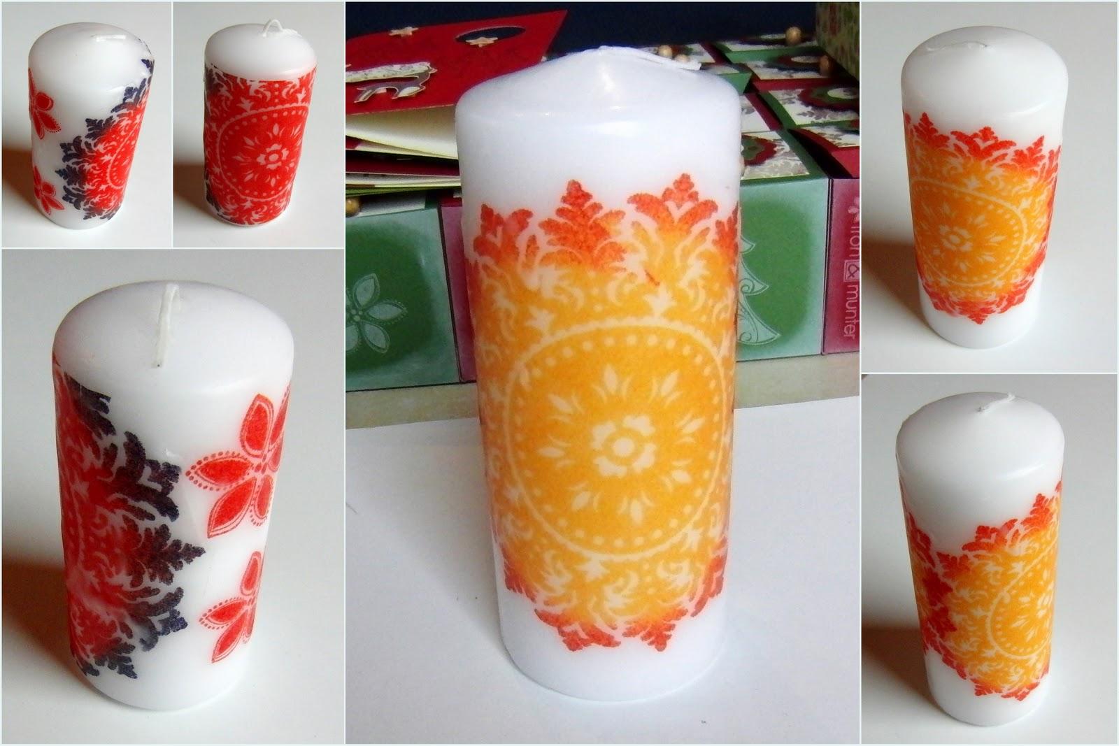 Eri's Kreativwerkstatt: Kerzen verzieren mit der Serviettentechnik und Stampin' Up!