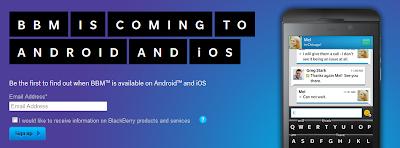Ingin pakai BBM di Android dan iOS ? Bisa kok