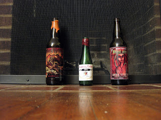 Dark Lord, Raspberry Eisbock, and Peche Mortel.