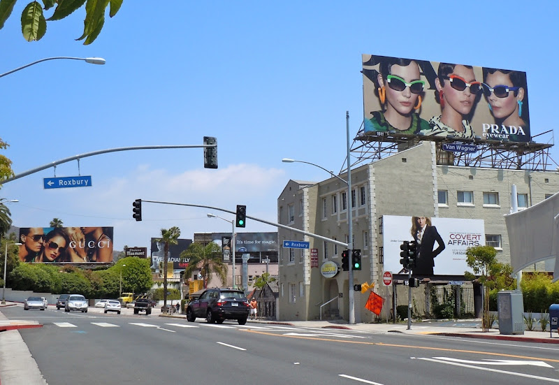 Gucci and Prada eyewear Sunset Strip billboards