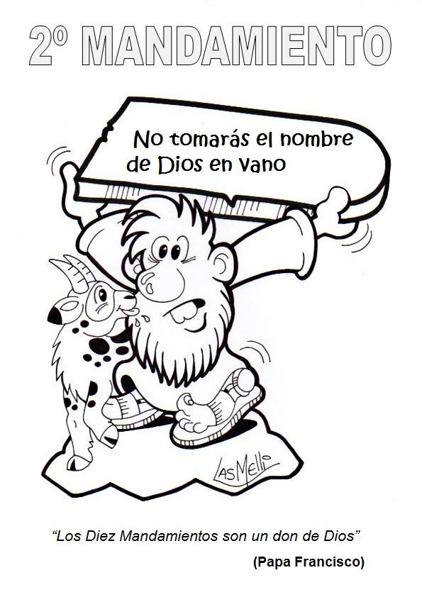 Gifs y Fondos Paz enla Tormenta ®: LOS MANDAMIENTOS PARA COLOREAR